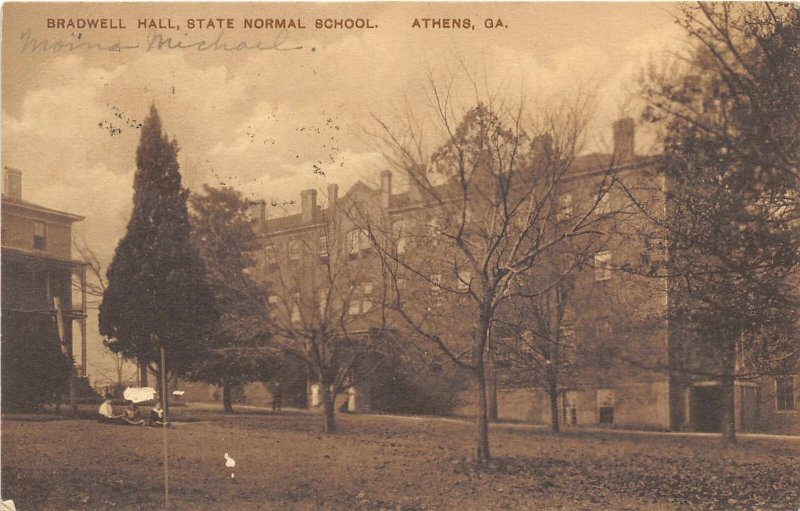 Bradwell Hall State Normal School University Georgia Athens 1913 postcard