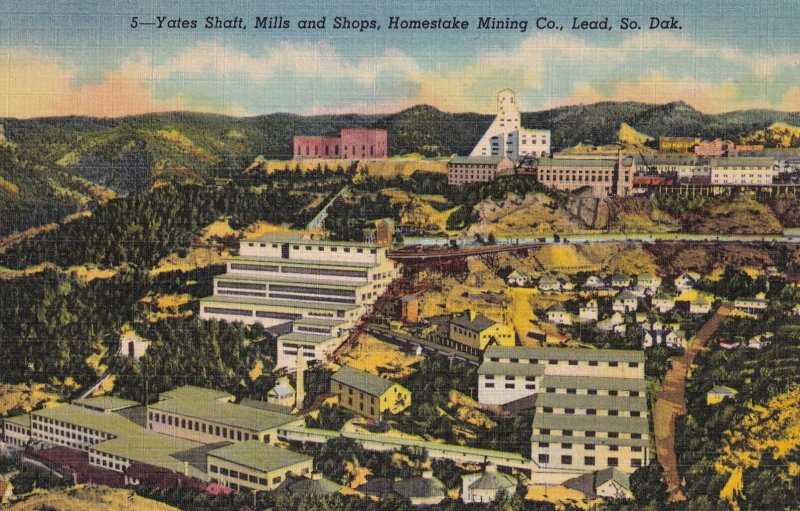 LEAD, South Dakota, PU-1953; Yates Shaft, Mills And Shops, Homestake Mining Co.