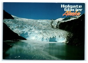 Postcard Holgate Glacier in the Kenai Fjords National Park, Alaska AK AJ2