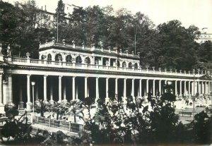 Postcard CZECH REPUBLIC Karlovy vary colonnade of czechoslovak-soviet friendship