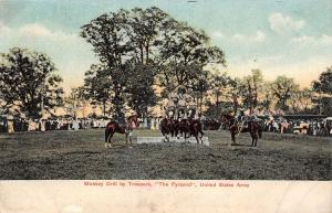 Military~United States Army~Monkey Drill by Troopers~The Pyramid~Horses~1905 PC