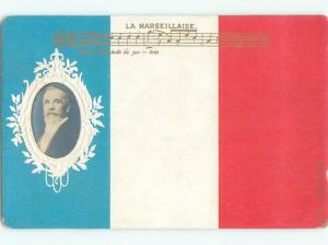 Pre1907 LA MARSEILLAISE - NATIONAL ANTHEM Composed At Strasbourg FRANCE Q1548