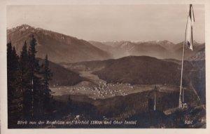 Blick Rosshute Auf Seefeld Und Ober Inntal Austria RPC Postcard