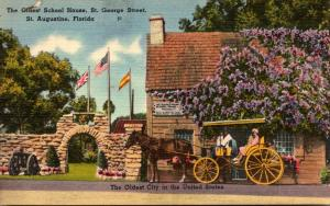 Florida St Augustine Horse and Carriage At The Oldest School House St George ...