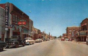Liberal Kansas Main Street Coke Sign Vintage Postcard JI657438