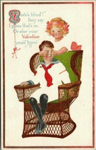 Valentine Fade Away~Love Is Blind~Girl Covers Sailor Boy's Eyes~Artist~Pink of P