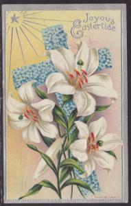 Joyous Easter,Lilies,Cross