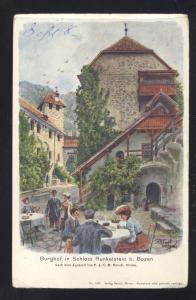 BURGHOF IN SCHLOSS RUNKELSTEIN BOZEN GERMANY ANTIQUE VINTAGE POSTCARD