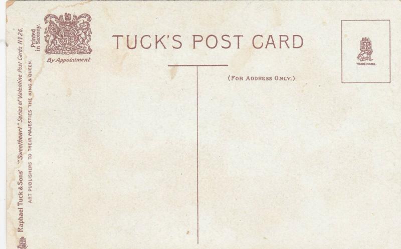 VALENTINE´S DAY; To My Valentine, Poem, 00-10s ; TUCK # 26