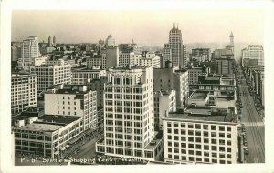 Birdseye 1940s Seattle Washington Shopping Center 1940s  Photo Postcard 20-682