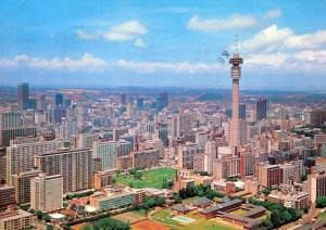 South Africa - Johannesburg, Strydom Tower Aerial View  (Now Hillbrow Tower s...
