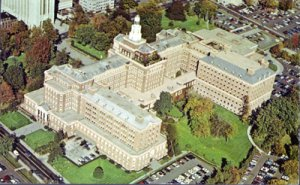 Hartford CT - AERIAL view of the home office of Aenta Life and Casualty 1970s