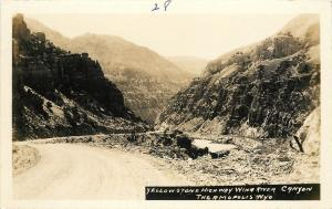 c1930s RPPC Yellowstone Highway Wind River Canyon Thermopolis WY Hot Springs Co.