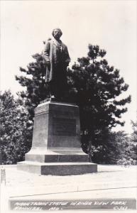 Mark Twain Statue In River View Park Hannibal Missouri Real Photo