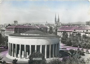 Croatia Postcard Zagreb center view