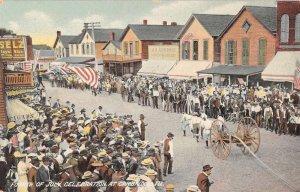 Cambridge Illinois Fourth of July Parade Scene Vintage Postcard JI658500