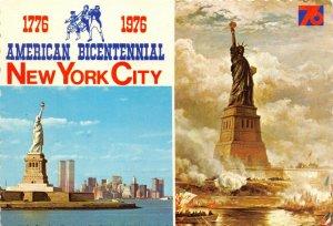 Vintage 1976 Postcard, American Bicentennial, New York City, USA 67Y