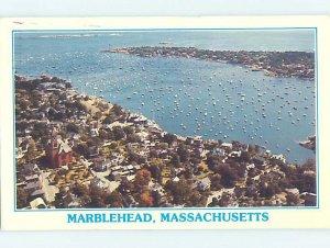 1980's AERIAL VIEW Marblehead Massachusetts MA AC9991