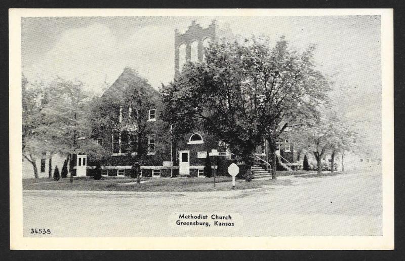 Methodist Church Greensburg Kansas Unused c1940s
