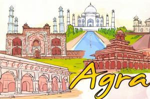 Fine Art Quality Postcard, Agra, India, Landmarks, City, View, Travel 98H