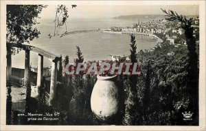 Postcard Moderne Menton Garavan taken Vue Generale