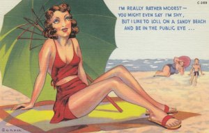 Pin-up , 30-40s ; I'm really rather modest....