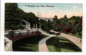 MILWAUKEE, Wisconsin, PU-1915; In Beautiful Lake Park