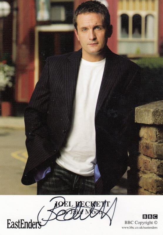 Joel Beckett as Jake Moon Eastenders Hand Signed Cast Card Photo