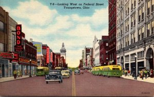 Ohio Youngstown Federal Street Looking West Curteich