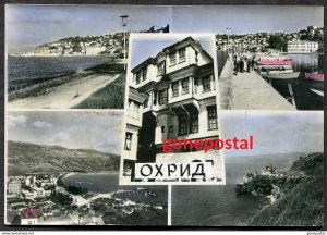 dc777 - MACEDONIA Ohrid 1960s Multiview Postcard