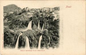 CPA TIVOLI Veduta generale delle cascatelle ITALY (545855)