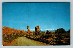 Arches National Monument UT-Utah, Balanced Rock, Chrome Postcard
