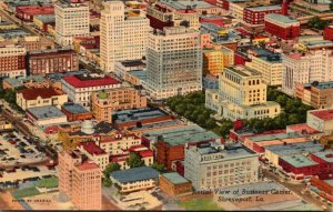 Louisiana Shreveport Aerial View Of Business District Curteich