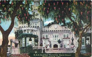 Dr. A.G. Castle's Mansion Sans Souci Hollywood California, Divided Back