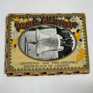 Bardell Miniatures Greetings from Philadelphia Souvenir Postcard Collection 1925