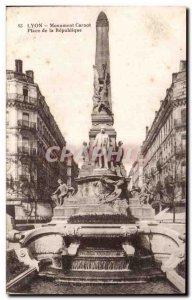 Old Postcard Lyon Monumental Carnot Place de la Republique