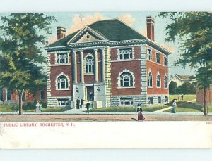 Pre-1907 LIBRARY SCENE Rochester New Hampshire NH AF1877