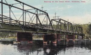 WATERLOO, Iowa, 1900-10s; Boating on the Cedar River