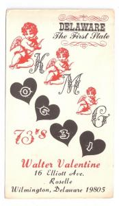QSL Radio Card KMG0631 Wilmington DE 1965 Walter Valentine