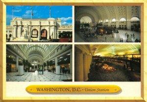 USA Multi View Postcard, Washington D.C, Union Train Railway Station GH5