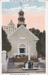 The Old Church And St. Anne's Spring, Ste Anne De Beaupre, Quebec, Canada, 19...