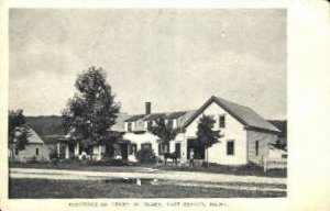 Residence of Henry W. Blake in East Sebago, Maine