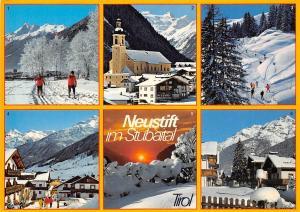 Neustift im Stubaital Tirol Schiabfahrt Abendstimmung Brennerspitze Serles