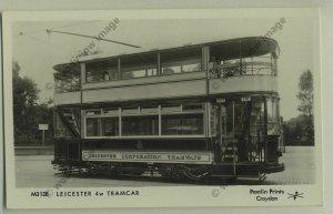 pp1009 -  Leicester - Leicester Corporation Tramways 4w Tram  - Pamlin postcard