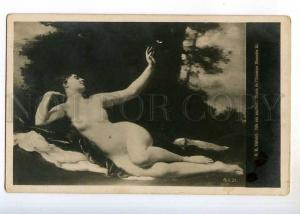 244789 NUDE NYMPH w/ BUTTERFLY by LIPHARDT Vintage PC