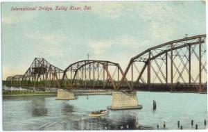 International Bridge, Rainy River, Ontario, ON, Canada, 1909 Divided Back