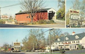 Lancaster Pennsylvania~Glass Kitchen Restaurant & Willows Motel~Covered Bridge