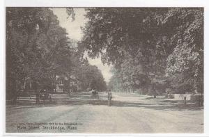 Main Street Stockbridge Massachusetts 1910c postcard