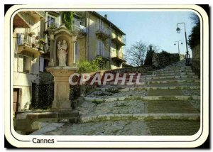Modern Postcard Reflections of the French Riviera Cannes Le Suquet La Montee ...