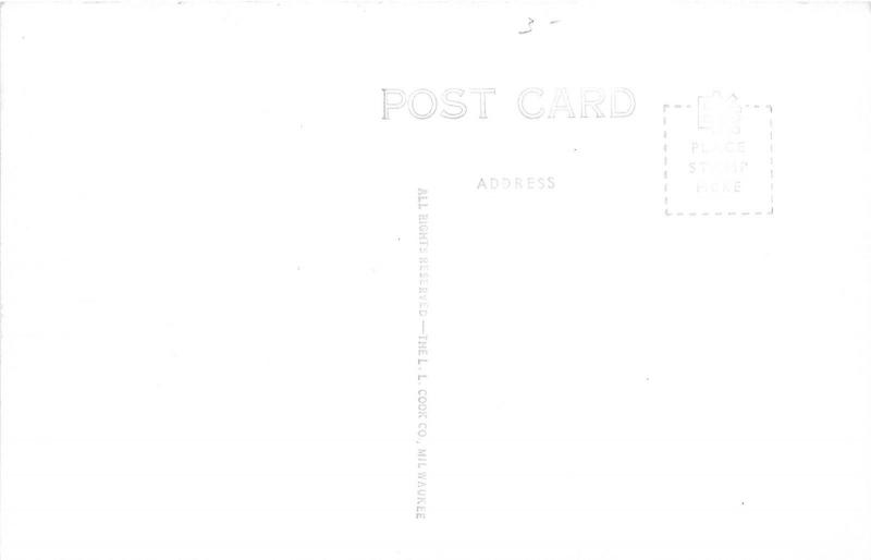 Preston Minnesota~Highway 16 & 52 Scene~Cars by Steel Bridge~1940s RPPC-Postcard